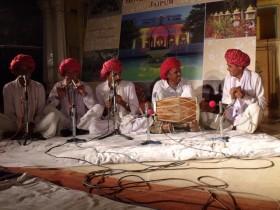 Musicians at Diggi palace, Jaipur. Photo: Ruth Clifford