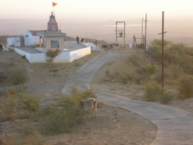 A temple at the top of Kala Dunga - the highest hill in Kachchh, atop of which you can see for miles. Photo: Ruth Clifford