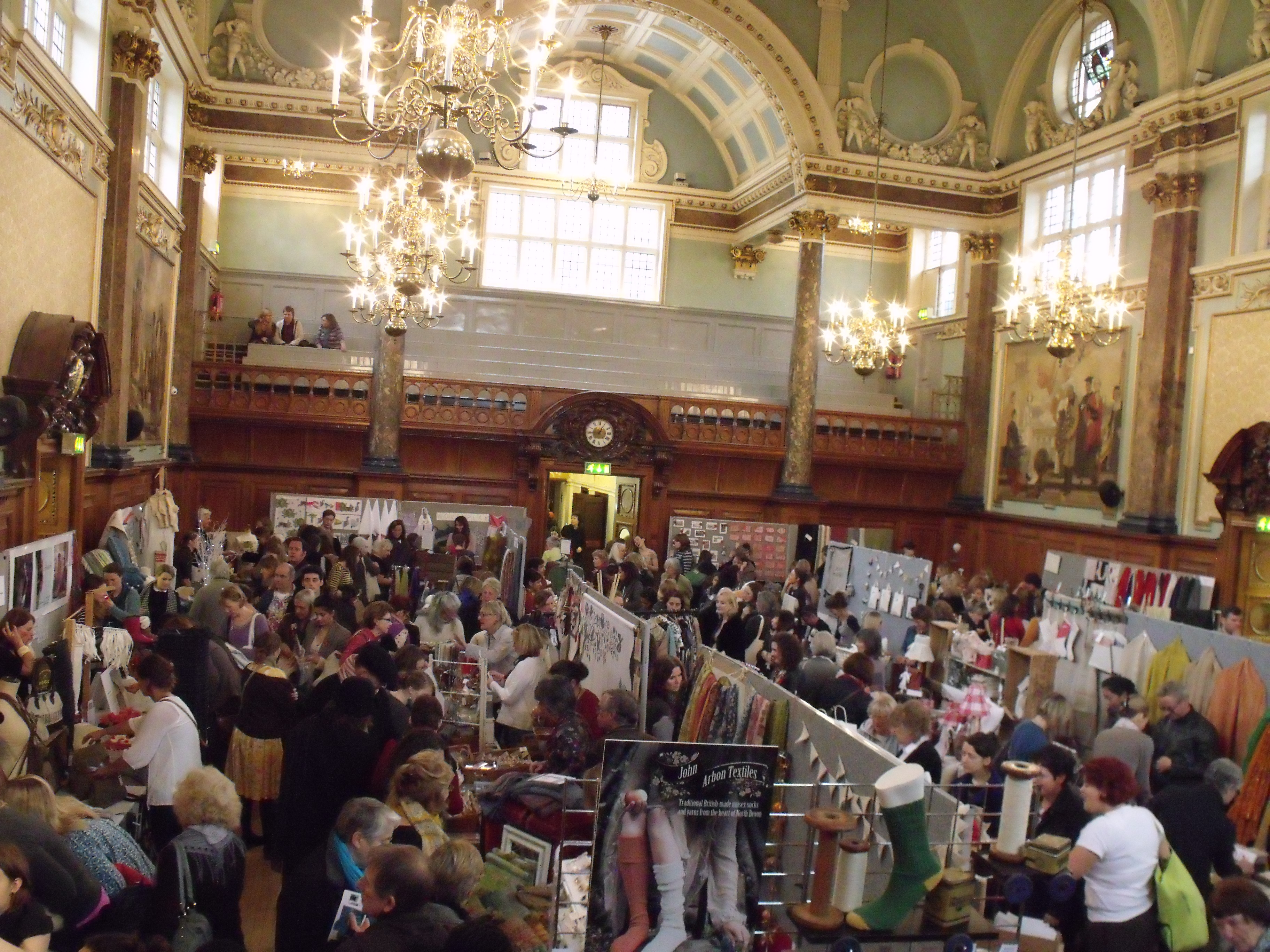 The packed out Selvedge Winter Fair at Chelsea Old Town Hall