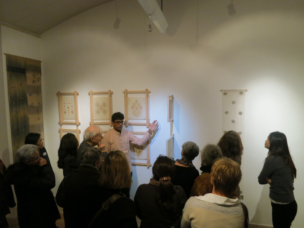 Asif talking through his work to a captivated audience. Photo courtesy of: Asif Shaikh