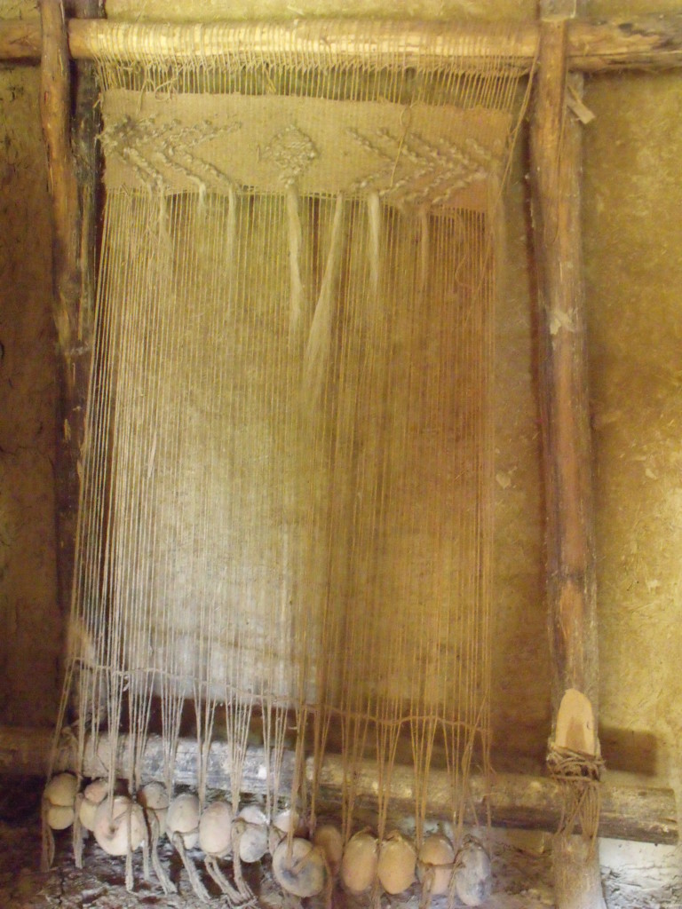 Weaving with goats hair and jute