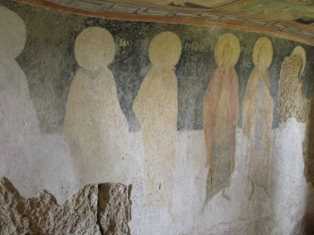 The interior of the Ivanovo rock monastery.