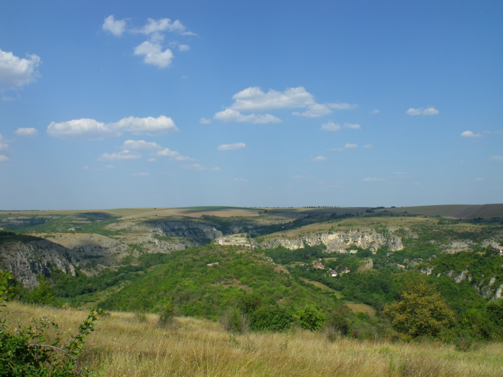 A view from the road towards the Cherven medieval fortress about 30 km south of Russe