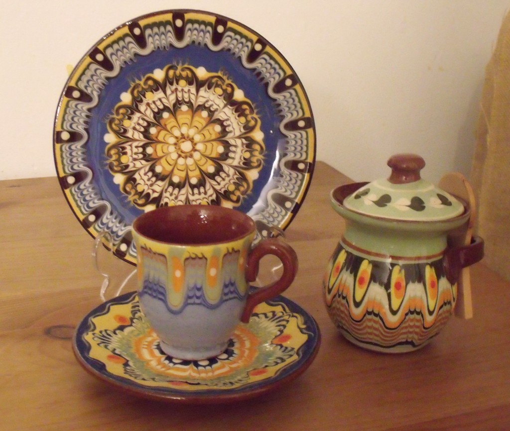 My collection of ceramic purchases from Veliko Tarnovo