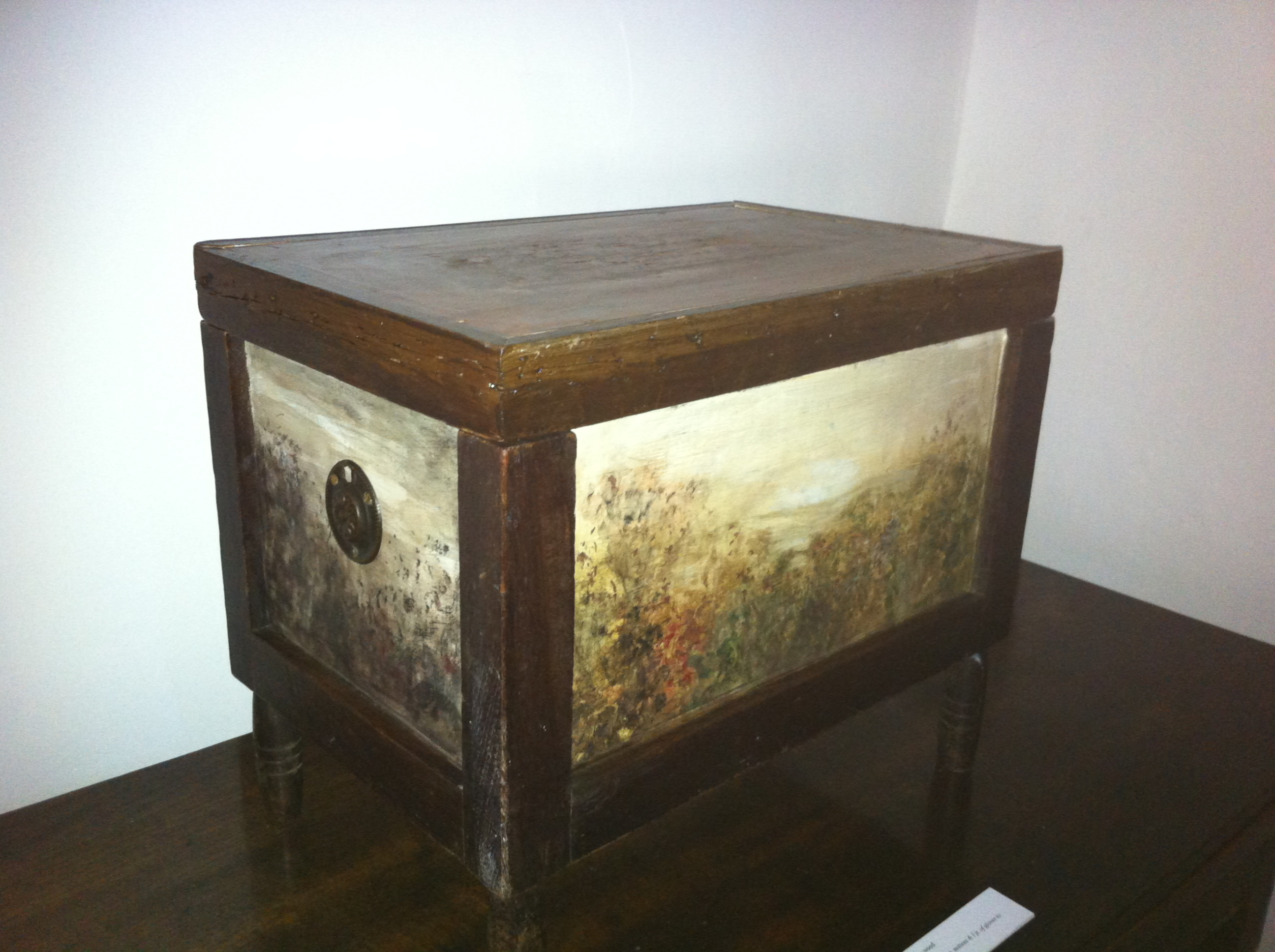 Painted mitten box