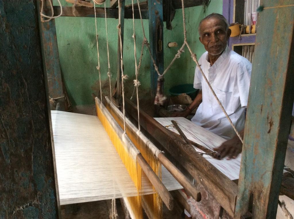 Premjibhai weaving Ikat