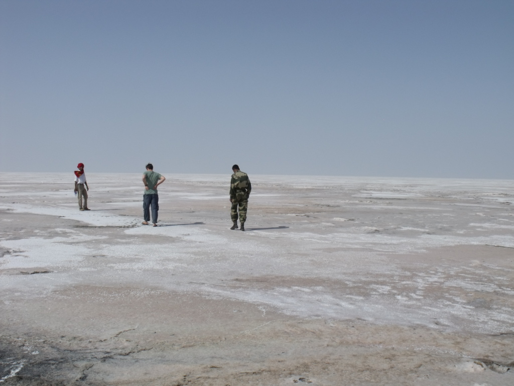 Walking out into the Great Rann