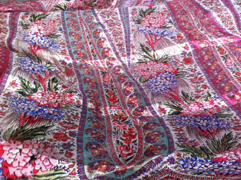 Muslin Madras printed shawls woven using leno technique