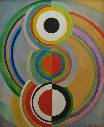 Sonia Delaunay, Rythme, 1938. From: https://www.flickr.com/photos/clairity/3836520419 (Creative Commons licensed) courtesy of Sharon Mollerus