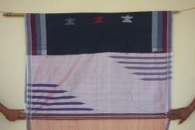 One of Danesh's saris, Kamatagi village,, Bagalkot