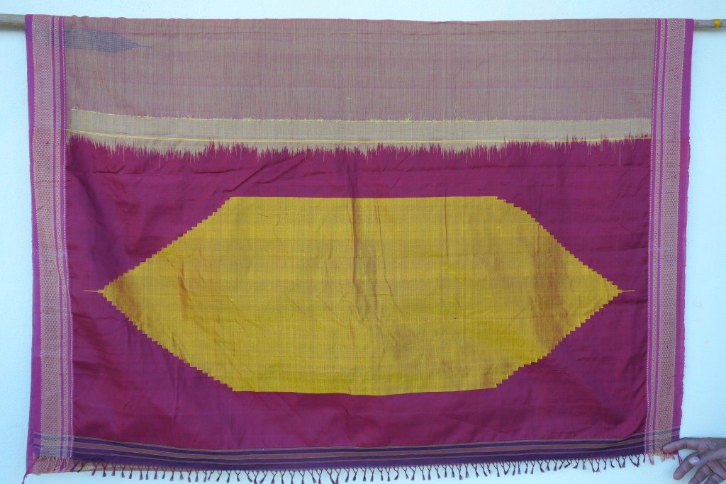 The Pallu of a sari by Dasrath, Bagalkot