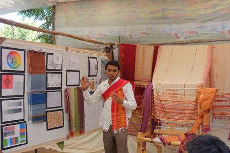 Pavan presenting his development work in the Presentation and Merchandising class.