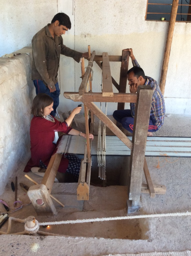Hesitantly beginning the weaving
