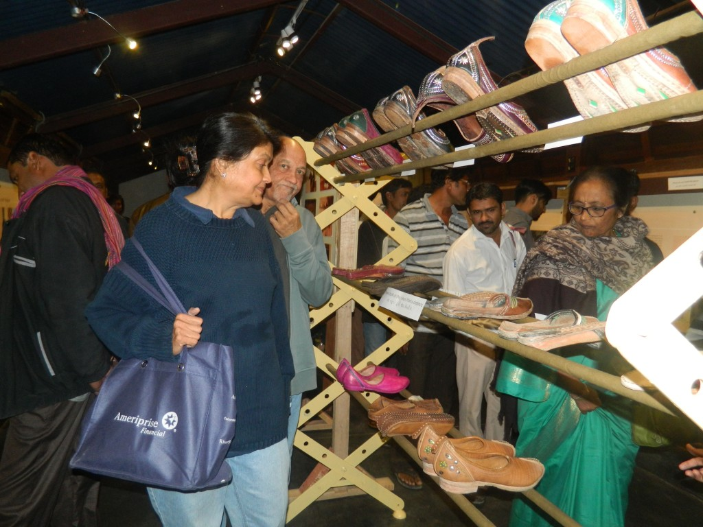 Visitors at the Rohi exhibition