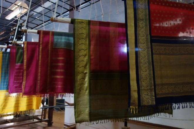 The sari gallery at Dakshinachitra