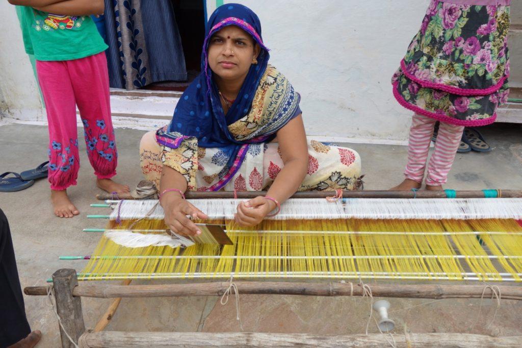 Woman making the rach